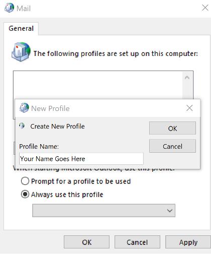 Create Email Profile