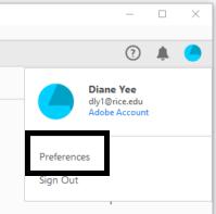 Adobe Preference