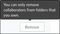 Remove from folders you own