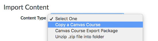 Copy a Canvas Course