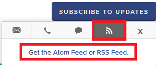 Subscribe to Alerts via RSS or Atom Feed