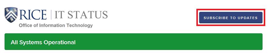 Rice University StatusPage Alerts