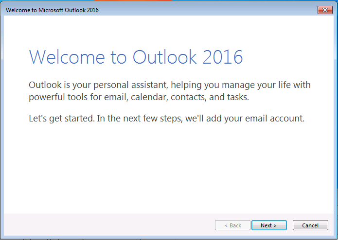 2016 Welcome Screen