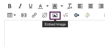 Canvas rich text editor Embed Image button
