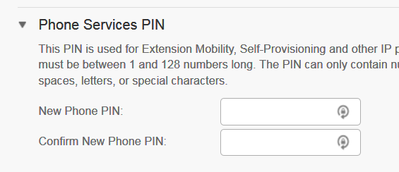 Phone Services PIN
