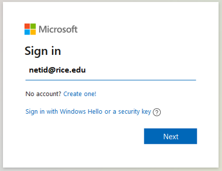Microsoft Login