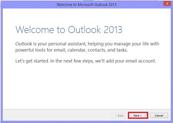 Welcome to Microsoft Outlook
