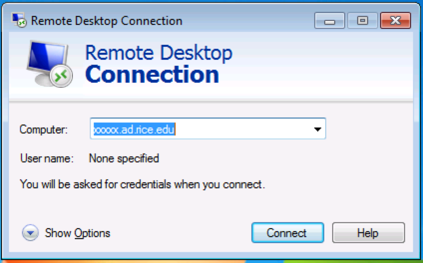 Remote Desktop Connnection